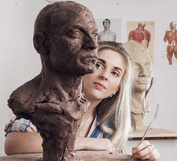 Sculptor Lydia
