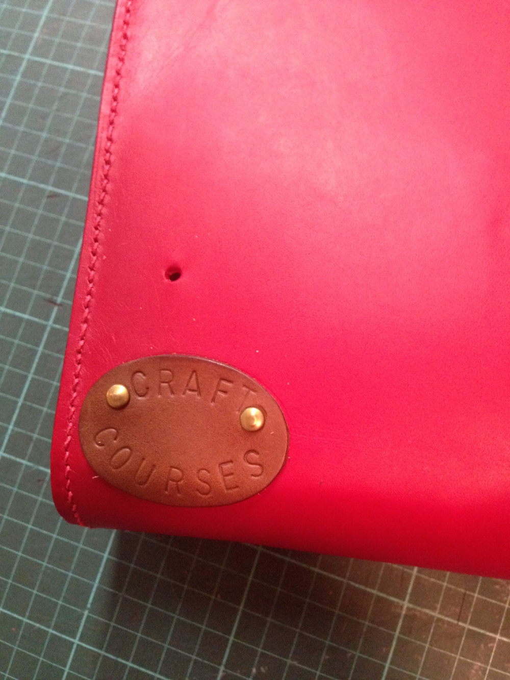 4. making the CraftCourses emblem for my leather bag