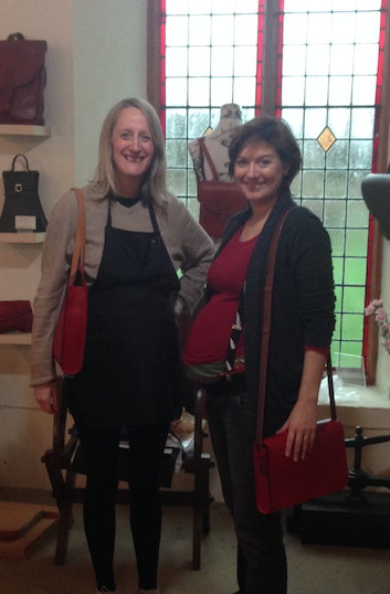 6. Two proud pregnant ladies and their bags. Hannah Booth & Kate Dewmartin