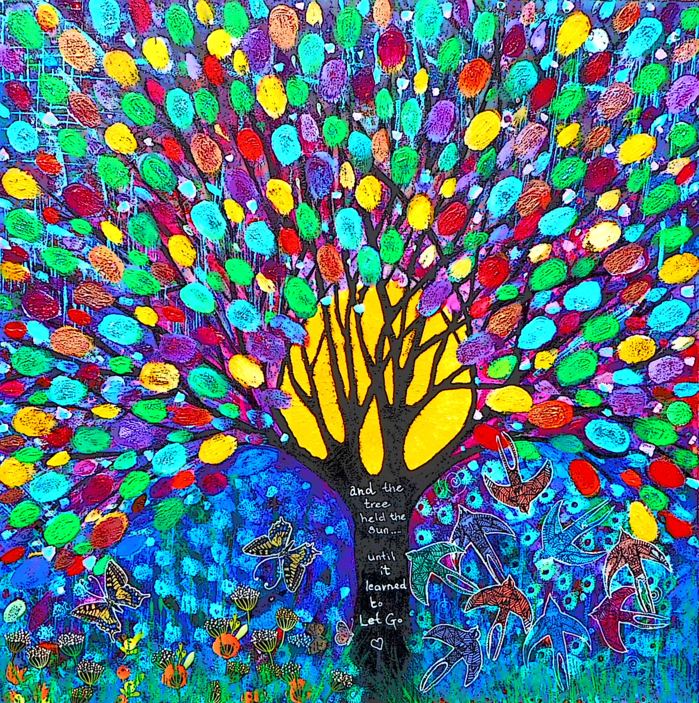 Paint yourself as a tree - healing with art